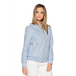Quiz - Pale Blue Lace Bomber Jacket