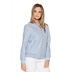 Quiz - Pale Blue Lace Bomber Jacket