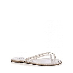 Quiz - Silver Diamante Rim Sandals