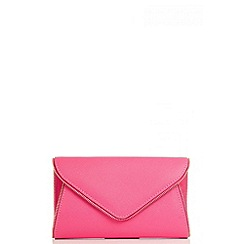 Quiz - Pink Zip Trim Envelope Bag