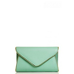 Quiz - Mint Zip Trim Envelope Bag