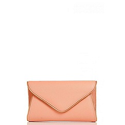 Quiz - Peach Zip Trim Envelope Bag