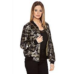 Quiz - Camouflage Shimmer Bomber Jacket