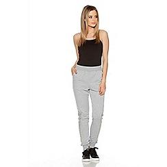 Quiz - Grey Diamante Detail Jogging Trousers