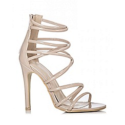 Quiz - Nude Multi Strap Heel Sandals