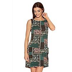 Quiz - Green Tile Print Tunic Dress
