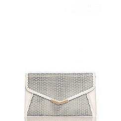 Quiz - White Laser Cut Envelope Bag