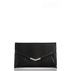 Quiz - Black Laser Cut Envelope Bag