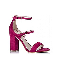 Quiz - Fuschia Pink Strap Block Heel Sandals
