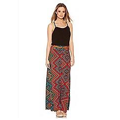 Quiz - Multicolour Aztec Print Maxi Skirt