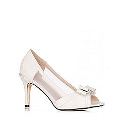 Quiz - White Bow Mesh Heel Shoes
