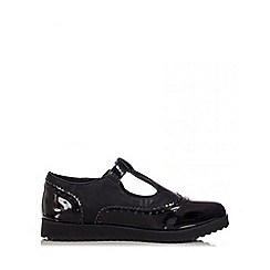 Quiz - Black Patent T-Bar Loafers