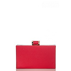 Quiz - Red Gold Plate Box Bag