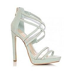 Quiz - Mint Mesh Cross Strap Heel Shoes
