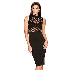 Quiz - Black Lace Sleeveless Turtle Neck Midi Dress