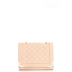 Quiz - Nude Quilted Messenger Bag