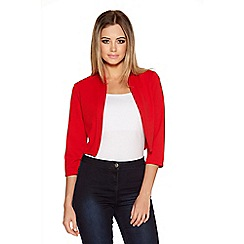 Quiz - Red Crop 3/4 Sleeve Jacket