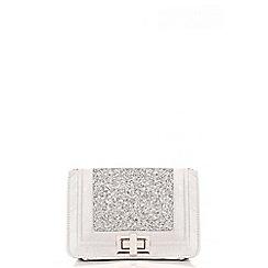 Quiz - Silver Glitter Messenger Bag