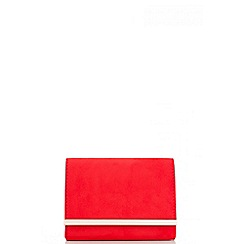 Quiz - Red Faux Suede Gold Trim Bag