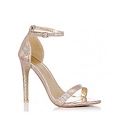 Quiz - Gold Holographic Strappy Sandals
