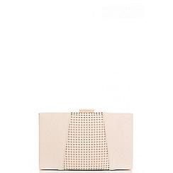 Quiz - Ivory Lazer Cut Panel Box Bag