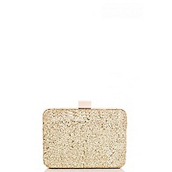 Quiz - Gold Glitter Box Bag