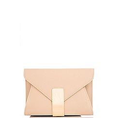Quiz - Beige Gold Bar Envelope Bag