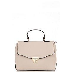 Quiz - Grey PU Satchel Bag