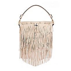 Quiz - Beige Tassel Shoulder Bag