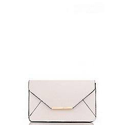 Quiz - White PU Envelope bag