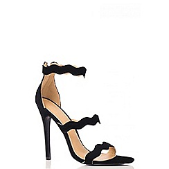 Quiz - Faux Suede Strap Sandals