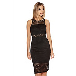Quiz - Black Lace Low Back Dress