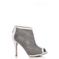 Quiz - Silver Mesh Shoe Boots