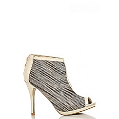 Quiz - Gold Mesh Shoe Boots