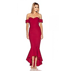 Quiz - Red Arm Cuff Fishtail Dress