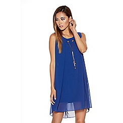 Quiz - Royal Blue Chiffon Necklace Tunic Dress