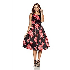 Quiz - Black And Red Satin Sleeveless Dress