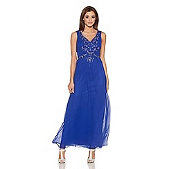 Quiz - Royal Blue Chiffon Sequin Maxi Dress