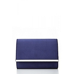 Quiz - Navy Faux Suede Trim Bag