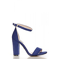 Quiz - Blue Block Heel Sandals