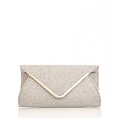 Quiz - Silver Glitter Mesh Envelope Bag