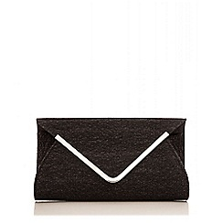 Quiz - Black Glitter Mesh Envelope Bag