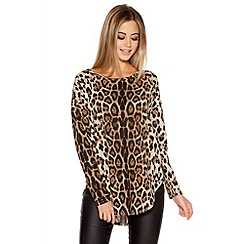 Quiz - Leopard Print Leopard Print Long Sleeve Top