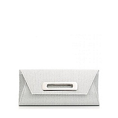 Quiz - Silver Stripe Shimmer Bag