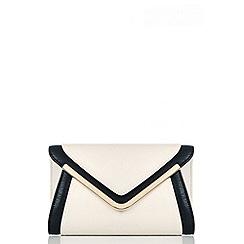 Quiz - Nude Black And Gold Envelope Bag