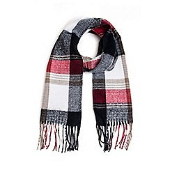 Quiz - Red Check Scarf