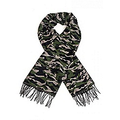 Quiz - Green Camouflage Thick Scarf