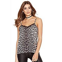 Quiz - Leopard Print Cami Lace Top