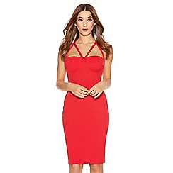 Quiz - Red Cup Bodycon Strap Dress