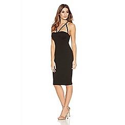Quiz - Black Cup Bodycon Strap Dress